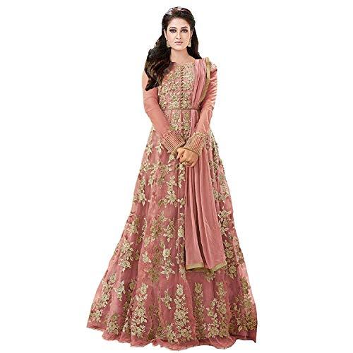 Akshar Textile Women\'s Net A-line Long Party Wear Gown