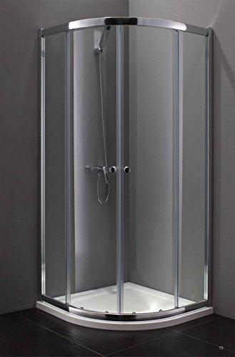 Box doccia circolare 5mm trasparente 75x75 b8080c: amazon.it: casa ...