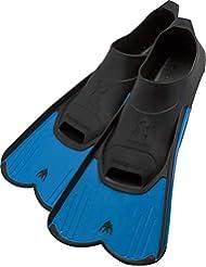Cressi Light, Pinne Corte Leggere e Potenti per Nuoto e Snorkeling Unisex, Blu, 41/42