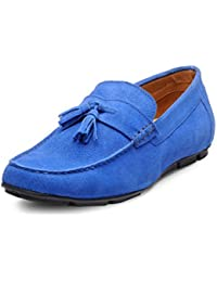 Hats Off Accessories Men Blue Loafer Shoes