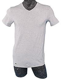 Lacoste - T-shirt - Monochrome - Col V - Manches courtes Homme