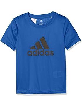 adidas Yb Gu tee Camisa de Golf, Niños, (Azul/Negro), 140 (9/10 años)