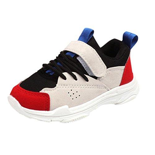 MEIbax Leichte Lauflernschuhe Kinder,Mischfarben Sport Running Style Sneaker Freizeitschuhe Sportschuhe Turnschuhe Schulkinderschuhe für Kinder Kind Jungen Mädchen