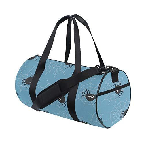 Spinne schwarz cool Netting Insekt benutzerdefinierte leichte große Yoga Gym Totes Handtasche Reise Canvas Seesäcke mit Schulter Crossbody Fitness Sport Gepäck für Mädchen Männer Frauen