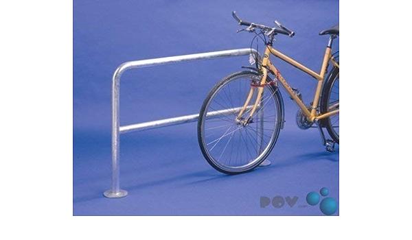 Fahrrad-Anlehnbügel 9111 zum Aufdübeln Länge 100 cm