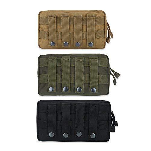 GLOGLOW 3 Farben Militärische Taktische Tasche, 1000D Nylon Outdoor Army Pouch Wasserdichte Taktische Getriebe Reisetasche für Wandern Camping Trekking Jagd(Armee-Grün) -