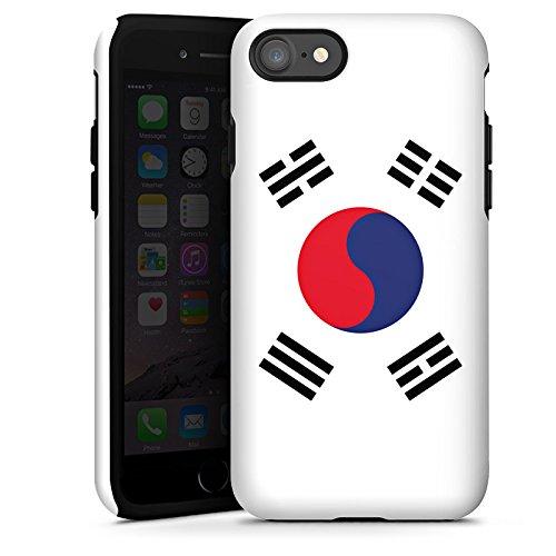 Apple iPhone X Silikon Hülle Case Schutzhülle Südkorea Flagge Korea Tough Case glänzend