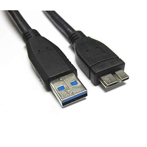 TechMax® USB 3.0-Anschlusskabel für tragbare Festplatte Western Digital/Samsung/Seagate/Elements/Clickfree/Hitachi/Toshiba/My Passport Tragbare Festplatten A bis Micro B (50cm) -