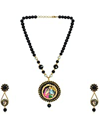 State A Style Black Color Alloy Necklace Set For Women SS-002