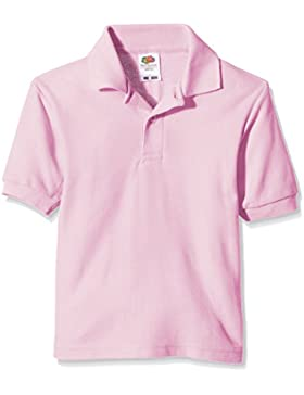 Fruit of the Loom niños polo de piqué Polo Plain manga corta camiseta Rosa Rosa (Light Pink) 14 años