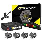 CAR ROVER Sensor di Parcheggio Radar di Sostegno d'inversione con LED Display Suono di Allarme + 4 * 22mm sensori Grigio