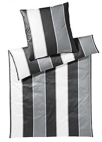 JOOP! Bettwäsche Line 4055 Fb. 0 - Black/White Größe: 135 x 200 cm (Black Satin Bettwäsche)