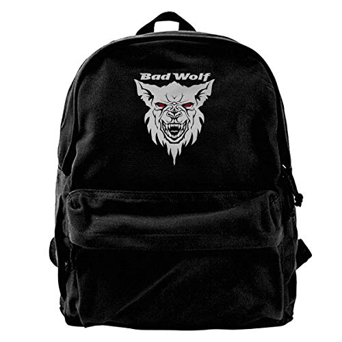 Rucksäcke, Daypacks,Taschen, Classic Canvas Backpack Bad Wolf Unique Print Style,Fits 14 Inch Laptop,Durable,Black -