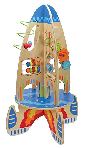 Children Wooden Activity Rocket Toy Play Centre with Bead Maze Abacus. / Toys Game Play Kids Childrens Child Toddler Baby Cool Activity Educational Creative Fun Special Unique Devlopment Developmental Friends Boys Girls Present Latest Newest Learning Outdoor Indoor Room Home House Easy Coolest Hands Smart Motoric Classic Constructions Preschool Popular Large Little Small Big