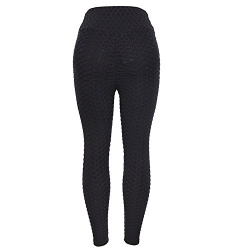 (TianWlio Leggings Damen Frauen Running Stretch Hosen Hosen Hohe Taille Yoga Fitness Leggings Yoga Leggings Sport Leggings Yoga (Schwarz 1, M))