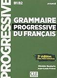 Grammaire progressive du français - Niveau avancé - Livre + CD - 2ème édition Nouvelle couverture