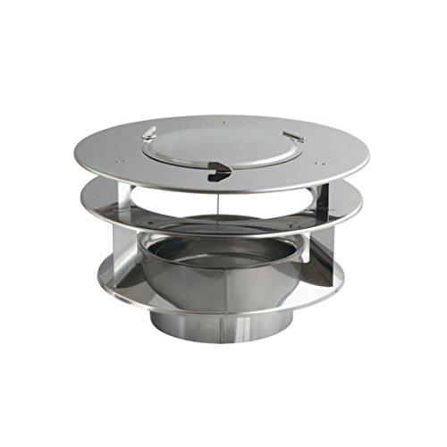 Courants d'air en acier inoxydable Générateur Rotowent Base carrée 150mm + Capuche supplémentaire