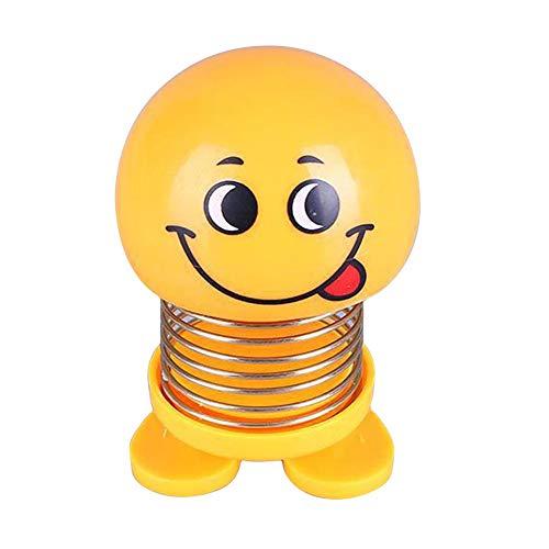 uto Ornamente Emoji schütteln Kopf Puppen Auto innendekoration zubehör neuheit schütteln Kopf frühling tanzen Puppe Spielzeug für Auto armaturenbrett/Home/Desktop ()