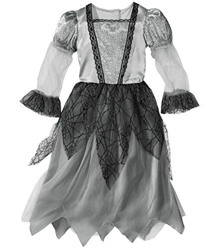 Unbekannt Halloween Fasching Karneval Kostüm Geister Braut - Gr. S 116 (4-6 Jahre)