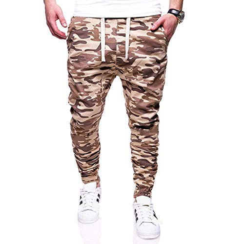 Dasongff Herren Cargo Hose Camouflage Trousers Arbeit Camo Hose Rangerhose Tarnhose Pants Baggy Freizeithose mit Tunnelzug -