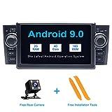 ZLTOOPAI Android 9.0 Autoradio per Fiat Grande Punto Linea 2007-2012 Autoradio DVD Player GPS con uscita RCA completa Wifi OBD SWC