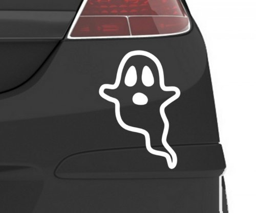 Autoaufkleber Geist Gespenst Spuks Horror Halloween Aufkleber Auto 5O041, Farbe:Königsblau Matt;Hohe:80cm