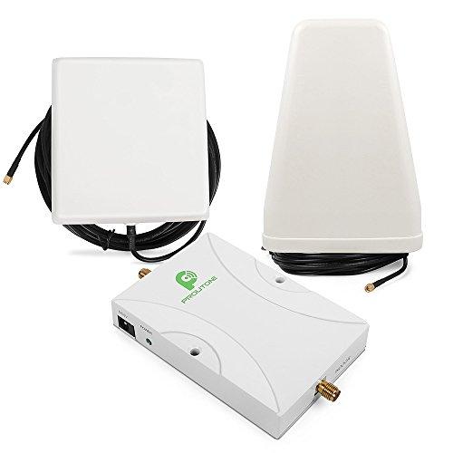 Foto de Proutone - Doble Frecuencia 900/1800MHz 4G LTE 65dB GSM 2G 3G Amplificador de Señal Teléfono Celular Kit Amplificador de Señal Repetidor Amplificador con Panel Antena Interior y Antena de Logaritmo Antena con cable de 10M