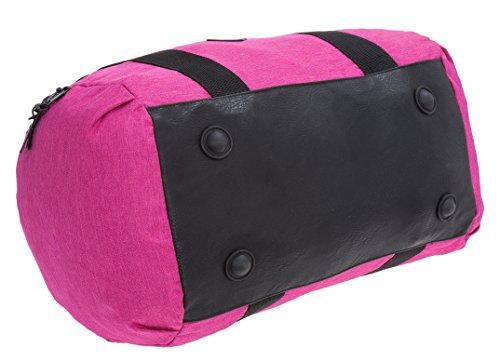 BLACK HAWK Reisetasche Sporttasche 55 cm Large + Trinkflasche CO2 (Hell-Grau) Pink