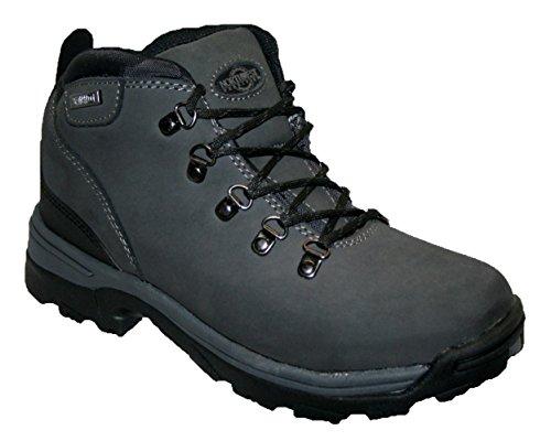 Damen Trek Leder leicht wasserdicht, Walking/Wandern/Trekking Kofferraum., Grau - grau - Größe: 40 EU (Leder-walking-schuhe)