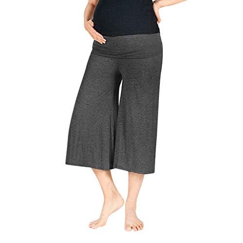 Julhold Damen Schwangerschaftshose, hohe Taille, Bauchhöhe, solide geschnittene Hose, lockerer Komfort, Reisen 2019 Gr. 42, dunkelgrau