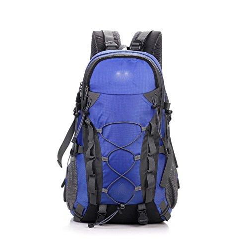 LQABW Außen Mountaineering 40L Große Kapazität Männer Und Frauen Wasserdicht Atmungs Rucksack Tasche Blue