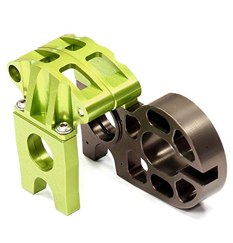 Integy RC Model Hop-ups C24694GREEN Billet Machined Center Motor Mount for Axial 1/10 EXO Off-Road -