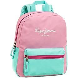 Pepe Jeans Bicolor Mochila Tipo Casual, 8.64 Litros, Color Rosa