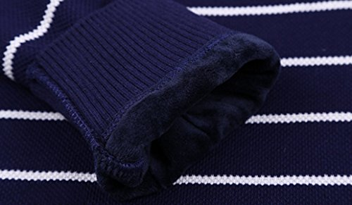CHLXIMen's Winter Shirt Collar Due Set Di Coltelli Maglione Maglione Girocollo Più Spesso 506