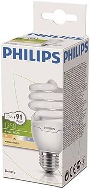 Philips Economy Twister WW E27 220-240V 1Pf/6 Normal Duylu Enerji Tasarruflu Ampul, Sıcak Beyaz, 20W