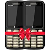SSKY-N230 Power (Dual SIM, 2.4 Inch Display, 3000 MAh Battery Combo Pack Of 2 Mobile-Gold