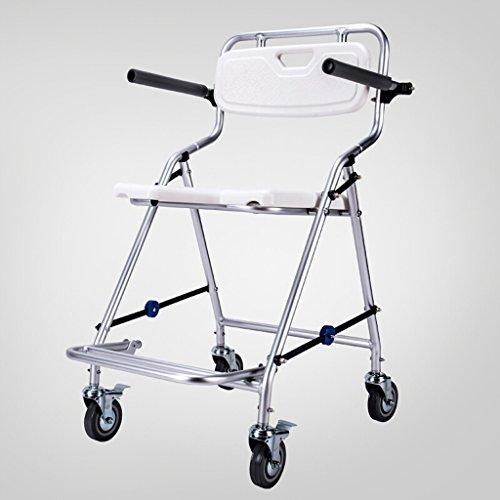 Tragbare Toilette Stühle (Guo Shop- Gesundheitswesen-faltende tragbare Feste Höhen-bewegliche Kommode und über Toiletten-Stuhl, Duschstuhl mit Rädern und Bremsen Badezimmer Stühle)