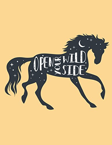 Open Your Wild Side Composition Book: Equestrian Graph Paper Notebook   Notebook Composition Book Quad Ruled 5 x 5 Small Squares Graphing Paper for ... Matte Softback Cover (Pretty Horse Notebooks)