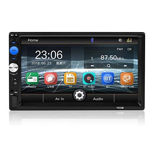 Touch screen bluetooth digitale universale hd da 7 pollici per auto, supporto porta usb/tf anteriore ingresso fm ausiliario con telecamera per la visione posteriore. lettore mp5 stereo
