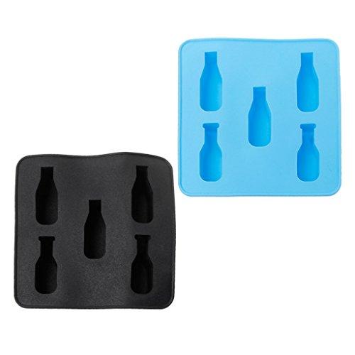 Yintiod Mini Bier Weinflasche Form Silikonform DIY Eiswürfelform Tablett EIS Werkzeug