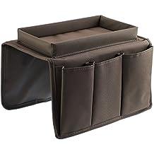 Organizador de mandos para TV y bandeja para sofá, organizador para brazo de sofá con