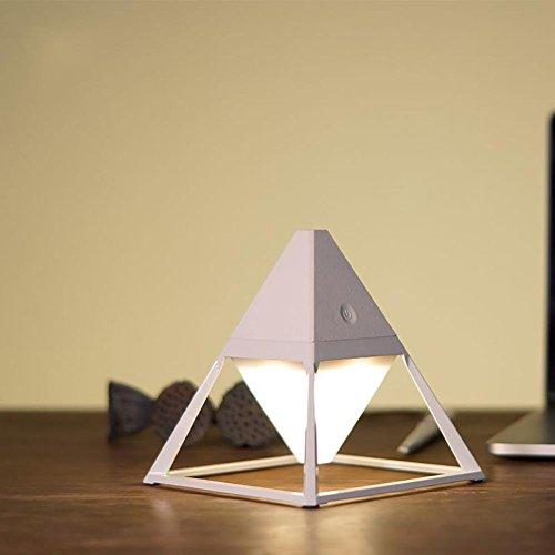 3 Stück-schlafzimmer-tabelle (Berührungsempfindliche Lampe kreative Pyramide Zink-Legierung wiederaufladbare Nachtlicht , 3)