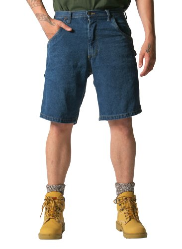 KEY Industries Herren Arbeitsshorts - Latzhose Stil - Blau Denim KS.155.45-38