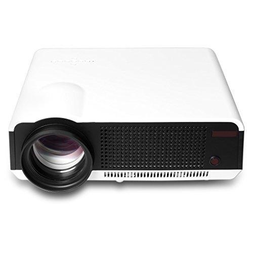 Excelvan® 2800 lúmenes Proyector WIFI (Android 4.2, LED Smart HD, LED Multimedia, Cine Teatro HDMI, VGA, AV, ATV, Videojuegos, PS2, PS3, XBOX360 , 1280*768) - Blanco