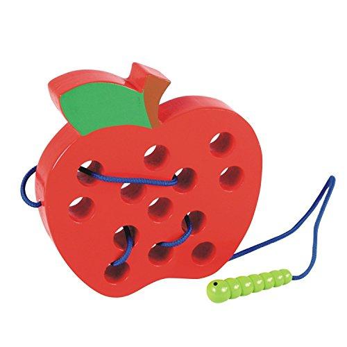 eug Spielcente Entwicklung Baby Kleinkind spilzeug Fädelspiel Apfel Motorikspielzeug Für Kinder ()