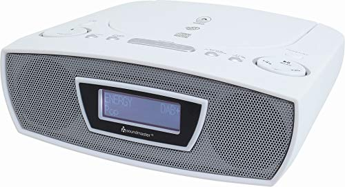 Soundmaster URD480WE DAB+ UKW Digital Radio Wecker mit CD-MP3 Resumefunktion und USB