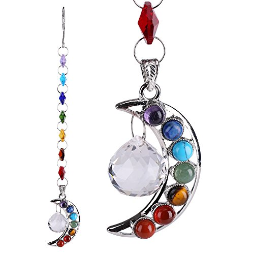 Qiterr Farbige achteckige Perlen DTY Moon Crystal Flower Ornaments Transparente Farbe Anhänger -
