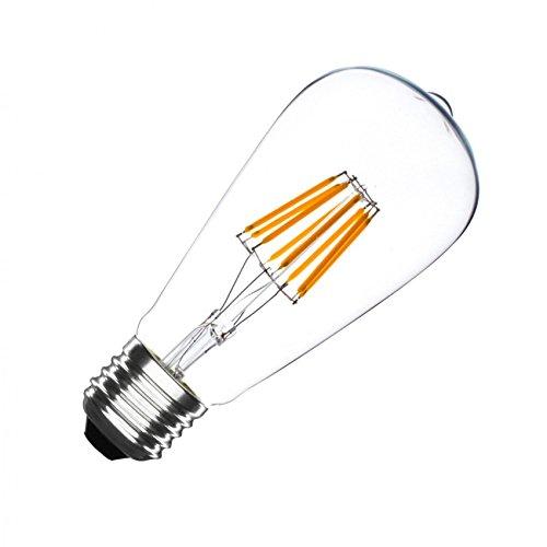 LED-Lampe E27 ST64 5.5W Filament Zitrone Dimmbar LEDKIA (Zitrone Glühbirne)
