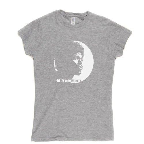 Gil Scott Heron Womens Fitted T-Shirt Aschgrau