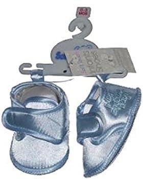 Zapatos de bautizo para niños con ocasión especial, color azul, de 3/6 meses, mi día especial